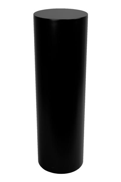 Ronde sokkel zwart