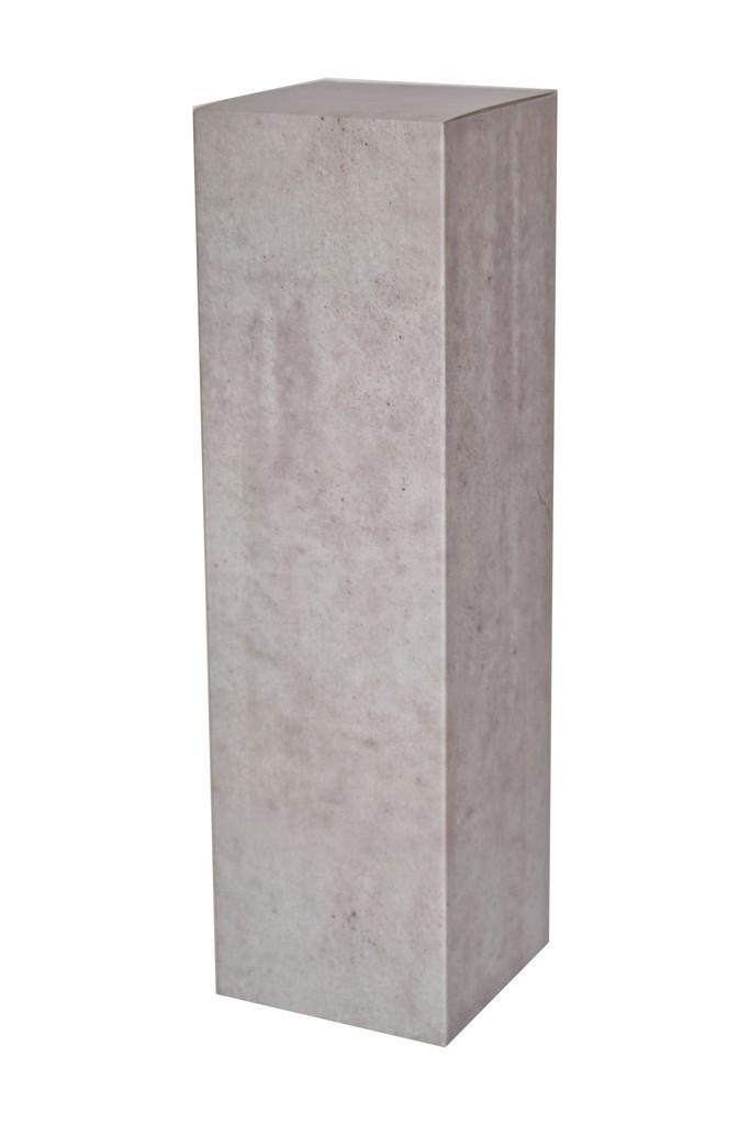 Kartonnen sokkel betonlook