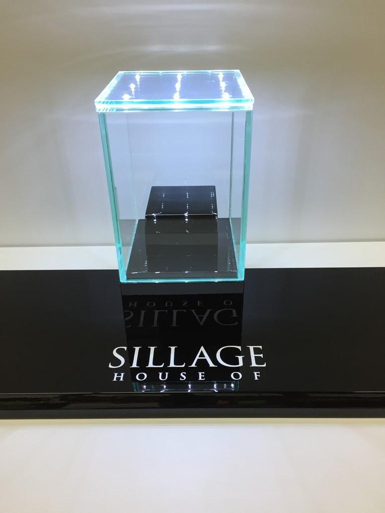 Mini vitrinekap met ledglas